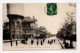 - CPA SAINT-DENIS (93) - Le Boulevard Félix-Faure 1908 - Les Ecoles (belle Animation) - Editions Lévy 111 - - Saint Denis