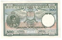 Yugoslavia 500 Dinara 1935 UNC/AUNC - Jugoslavia