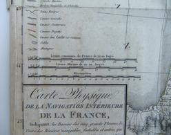 Carte Physique De La Navigation Intérieure De La France Dressée Par L'Ingénieur Géographe Jean-Baptiste Poirson - Geographical Maps