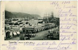 SPAGNA  TENERIFE  Puerto De Santa Cruz  Viaggiata Per Biella Italy  Southampton Ship Letter 1906 - Tenerife