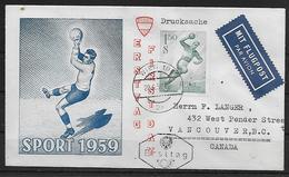 AUTRICHE  FDC 1959 Hand Ball - Hand-Ball