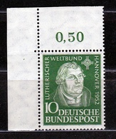 1952 GERMANIA GERMANY CONGRESSO LUTERANO HANNOVER LUTHERAN CONGRESS Serie MNH** - Theologians