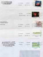 France, Lot De 5 Enveloppes Avec Timbres Collectors. - France