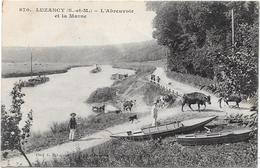 77 LUZANCY - L'abreuvoir Et La Marne - Animée - France
