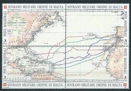 SMOM, 1992 - Karte Der Reisen Columbus, UN 410/13 Mnh - Malta (Orden Von)