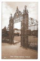 UK New College Oxford Gardens Vtg Penrose & Palmer Postcard Wrought Iron Gate - Oxford