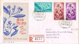 33571. Carta Certificada BATA (Rio Muni) Colonia Española 1964, Flora, Dia Del Sello - Riu Muni