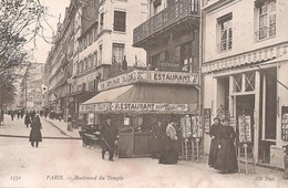 PARIS 11e - Boulevard Du Temple - Restaurant Cellier - Arrondissement: 11