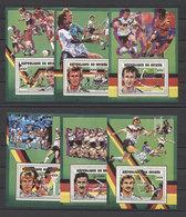 Guinea Soccer Football Futbol Calcio Futebol Italy 1990 Mi Bl#380-385 MNH - 1990 – Italien