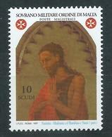 SMOM, 1997 - San Giovanni Battista, UN 522 Mnh - Malta (Orden Von)