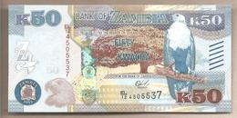 Zambia - Banconota Non Circolata Fds Da 50 Kwacha P-60a - 2015 - Zambia