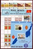 1980 Isola Di Man ANNATA  YEAR Con 25 Valori In Quartina (152/76) + BF3, BF4 E 166/69 Minifoglio  MNH** Bl.4 - Isola Di Man