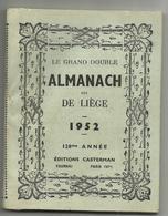"""Almanach Dit De Liêge 1952 Une Page Illustrée Par Hergé """"Les Aventures De Tintin Et Milou"""" Rare - Belgium"""