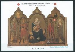 SMOM, 1997 - San Giovanni Battista, UN BF 50 Mnh - Malta (Orden Von)