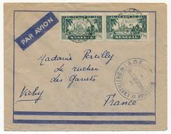 """SENEGAL - Enveloppe Depuis Dakar 1941 - Cachet """"Direction De L'Artillerie De L'A.O.F. Le Vaguemestre"""" - Senegal (1887-1944)"""