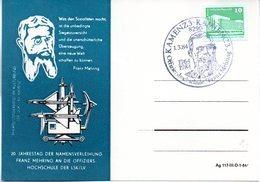"""(DDR-B2) DDR Sonderkarte """"Offiziershochschule Franz Mehring"""" EF Mi 2484, SSt.1.3.84 KAMENZ 3/KAMJENC 2 - [6] République Démocratique"""