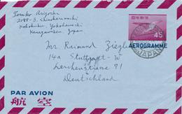 KANAGAWA / JAPAN - 1957 , Aerogramme - Nach Stuttgart - Interi Postali
