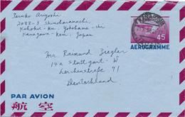 KANAGAWA / JAPAN - 1956 , Aerogramme - Nach Stuttgart - Interi Postali