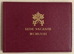 VATICANO 1958 Sede Vacante L. 500 FDC Nel Folder Originale - Vatikan