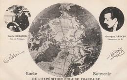 CPA:CARTE SOUVENIR EXPÉDITION POLAIRE FRANÇAISE PORTRAIT ÉMILE SÉQUIER GEORGES DARCIS - Astronomie
