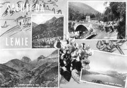 """4911 """" SALUTI DA LEMIE """" 4 VEDUTE -CART. POST.OR.  SPED.1965 - Saluti Da.../ Gruss Aus..."""