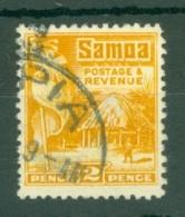 Samoa: 1921   Native Hut   SG156    2d  [Perf: 14 X 13½]   Used - Samoa