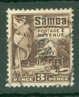 Samoa: 1921   Native Hut   SG158    3d  [Perf: 14 X 13½]   Used - Samoa