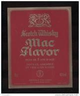 Etiquette De Scotch  Whisky  -  Mac Flavor -   Ecosse - Whisky