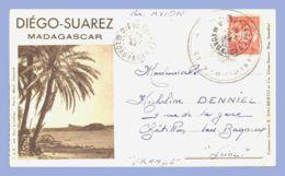 Carte Lettre Brune - Diégo-Suarez (Madagascar) - Le Pain De Sucre Et Huit Vues - Madagascar