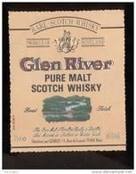 Etiquette De Scotch  Whisky  -  Glen River  -  Ecosse - Whisky
