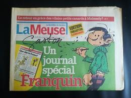 JOURNAL LA MEUSE ÉDITION COLLECTOR SPÉCIAL FRANQUIN AUTEUR BD GASTON LAGAFFFE ANNÉE 2006 - Franquin