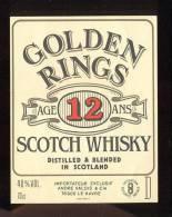 Etiquette De Scotch  Whisky   -  Golden Rings  -  Ecosse - Whisky