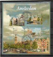 FRANCE     Feuillet 4 Timbres 0,80 €    2016   Y&T: 5090    Amsterdam  Oblitéré - Sheetlets