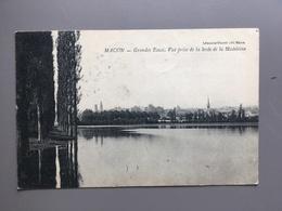 MACON - GRANDES EAUX VUE PRISE DE LA LEVEE DE LA MADELEINE 1910 - Macon
