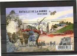 FRANCE     Feuillet 2 Timbres 0,80 € Et 1,00€   2016   Y&T: 5075  Bataille De La SOMME  1916-2016   Oblitéré - Sheetlets