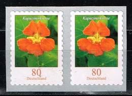 Bund 2019,Michel# 3482 ** Blumen: Kapuzinerkresse Selbstklebend Von Der Maxirolle - [7] Federal Republic