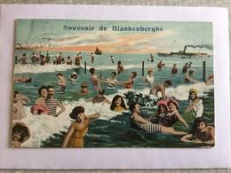 BLANKENBERGE 1910    SOUVENIR DE BLANKENBERGHE  PRACHTIGE KAART - Blankenberge