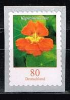 Bund 2019,Michel# 3482 ** Blumen: Kapuzinerkresse Selbstklebend Von Der 10 000er Rolle Mit Nr. 9845 - [7] Federal Republic