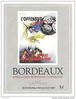 Etiquette De Vin Bordeaux - Cuvée L'offensive Minimes Les 13/14/05/ 89 Chateauneuf Du Faou  (29) - Thème Football - Soccer