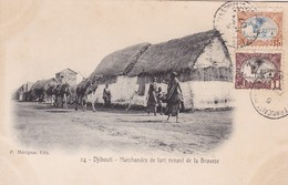 DJIBOUTI / MARCHANDES DE LARD VENANT DE LA BROUSSE / MARCOPHILIE / BELLE OBLITERATION  COTES DES SOMALIES - Gibuti