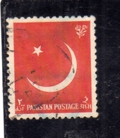 PAKISTAN 1956 CRESCENT AND STAR 2a USED USATO OBLITERE - Pakistan