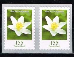 Bund 2019,Michel# 3484 R ** Blumen: Buschwindröschen Selbstklebend Waagerechtes Paar Von Der 500er Rolle - [7] Federal Republic