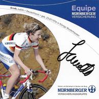 CARTE CYCLISME JUDITH ARNDT SIGNEE TEAM WOMEN'S NURNBERGER - Cyclisme