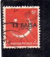 PAKISTAN 1961 CRESCENT AND STAR SURCHARGED 13p On 2a USED USATO OBLITERE - Pakistan