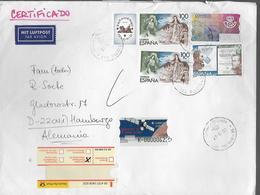 ESPAGNE  Lettre Recommandée 2000 Religion Poste Espace Satellite Hispasat - Covers & Documents