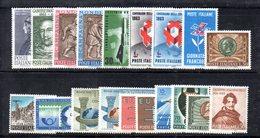 BIG - REPUBBLICA 1963 , L'annata Completa Di 19 Valori     ***  MNH - 6. 1946-.. Repubblica