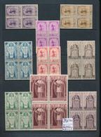 BELGIUM CARDINAL MERCIER  COB 342/350 BLOCKS OF FOUR MNH POSTFRIS SANS CHARNIERE - Belgien