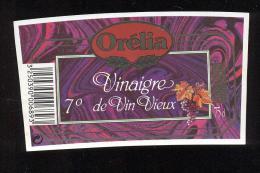 Etiquette  De Vinaigre De Vin Vieux  -  Orélia  à Longjumeau  (91) - Etiquettes