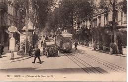 NICE - L'Avenue De La Gare - Transport (road) - Car, Bus, Tramway