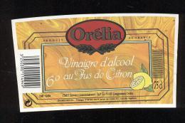Etiquette  De Vinaigre D'Alcool Au Jus De Citron  -  Orélia  à Longjumeau  (91) - Etiquettes